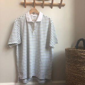 ADIDAS Climalite Striped Golf Polo Shirt